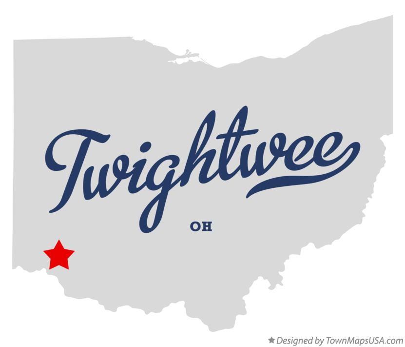 Map of Twightwee Ohio OH