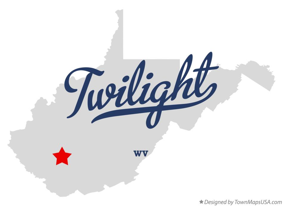 Map of Twilight West Virginia WV
