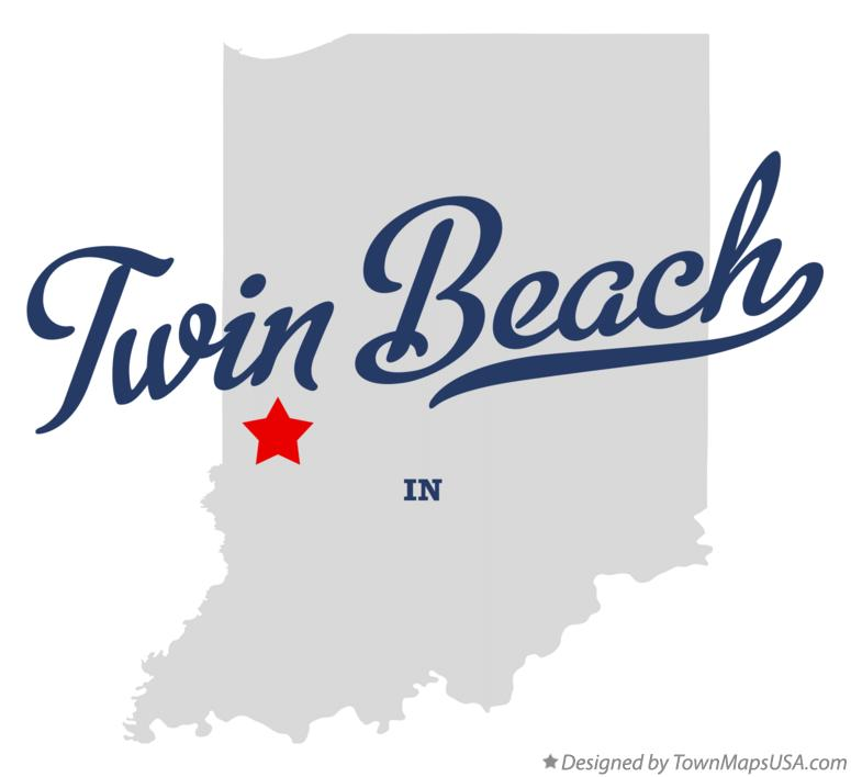 Map of Twin Beach Indiana IN