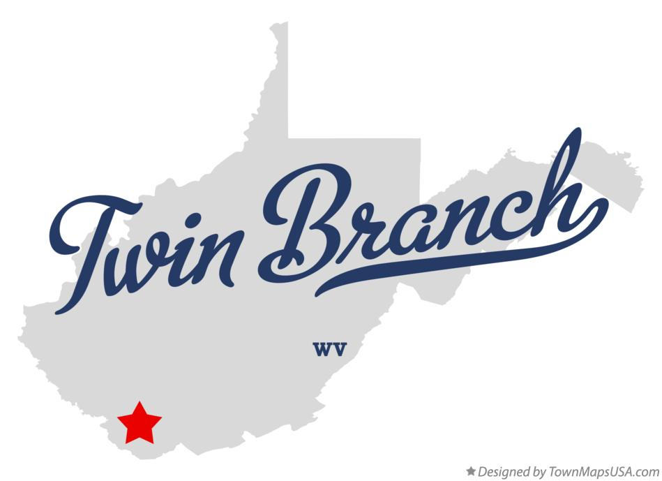 Map of Twin Branch West Virginia WV