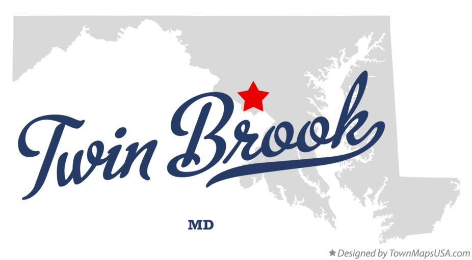 Map of Twin Brook Maryland MD