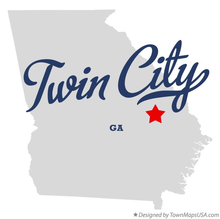 Map of Twin City Georgia GA