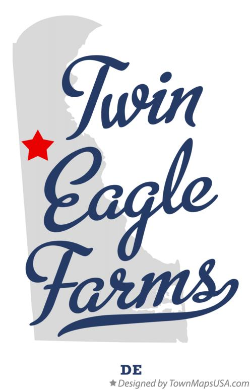 Map of Twin Eagle Farms Delaware DE