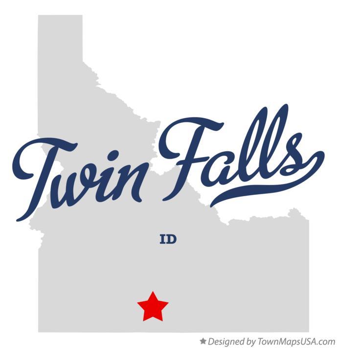 Map Of Twin Falls Id Idaho