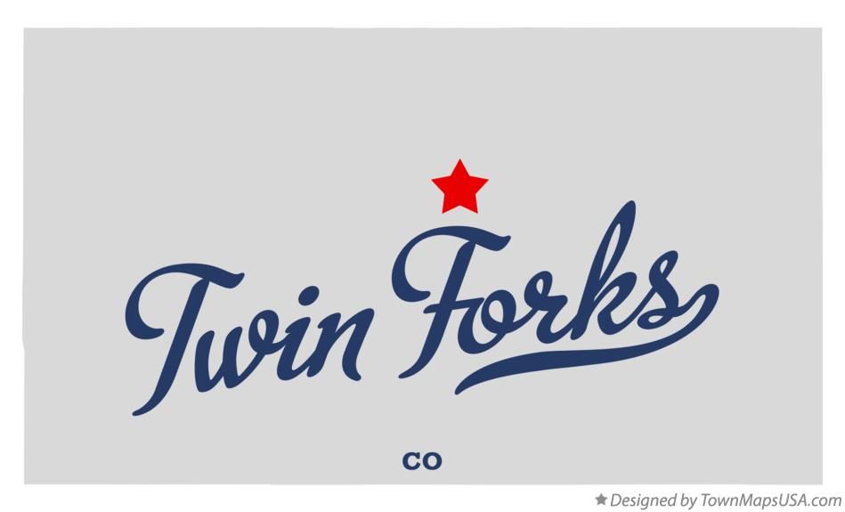 Map of Twin Forks Colorado CO