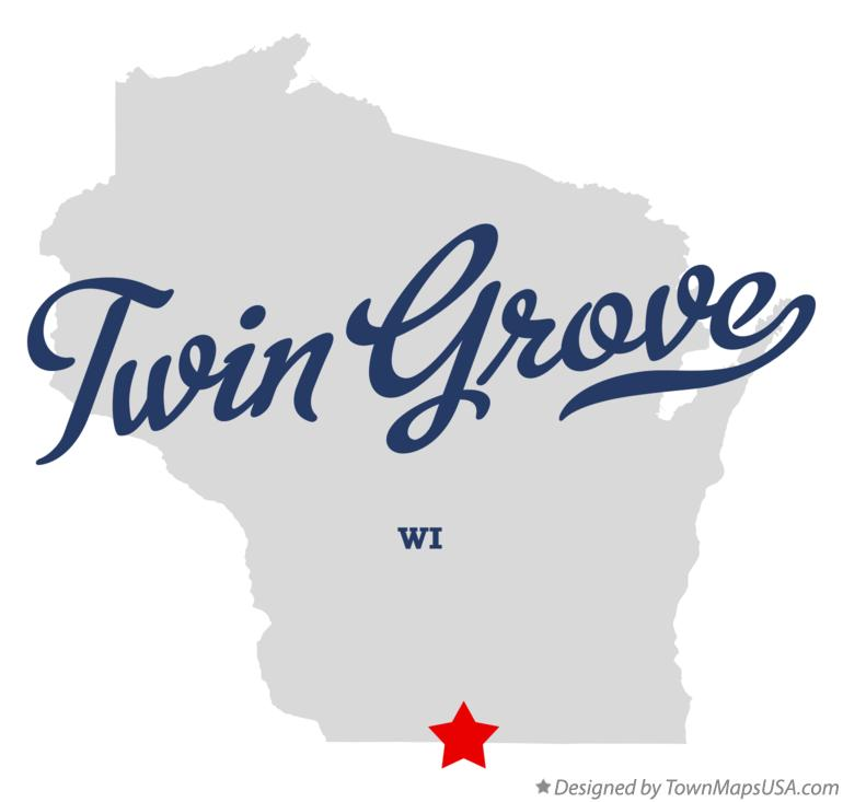 Map of Twin Grove Wisconsin WI