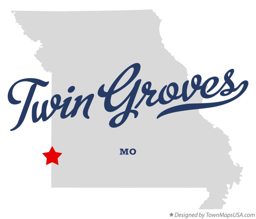 Map of Twin Groves Missouri MO