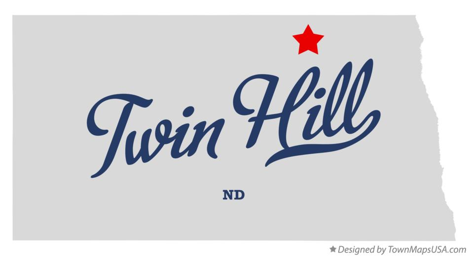 Map of Twin Hill North Dakota ND