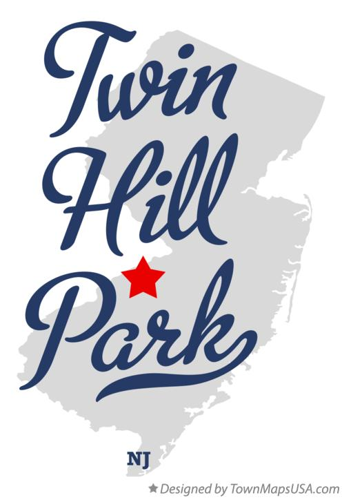Map of Twin Hill Park New Jersey NJ