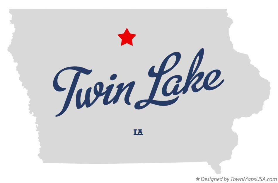 Map of Twin Lake Iowa IA