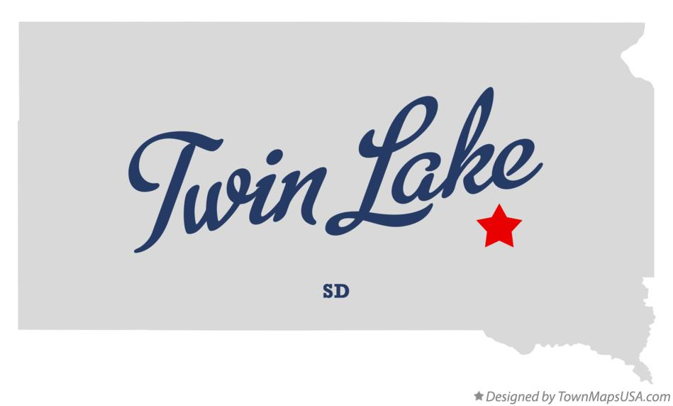 Map of Twin Lake South Dakota SD