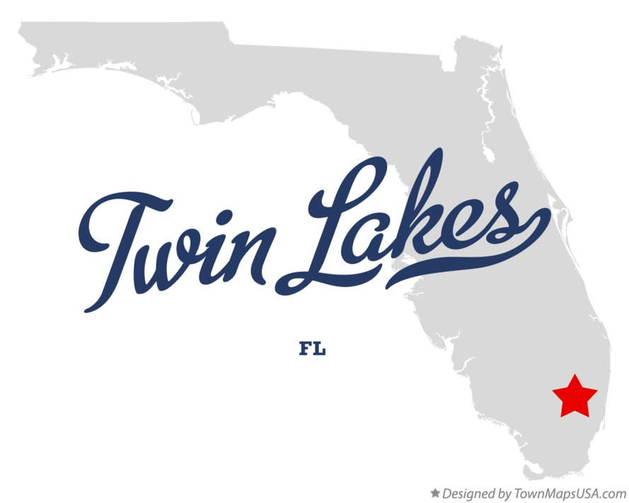 Map of Twin Lakes Florida FL
