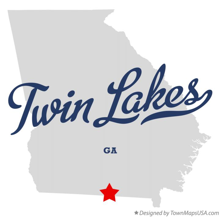 Map of Twin Lakes Georgia GA