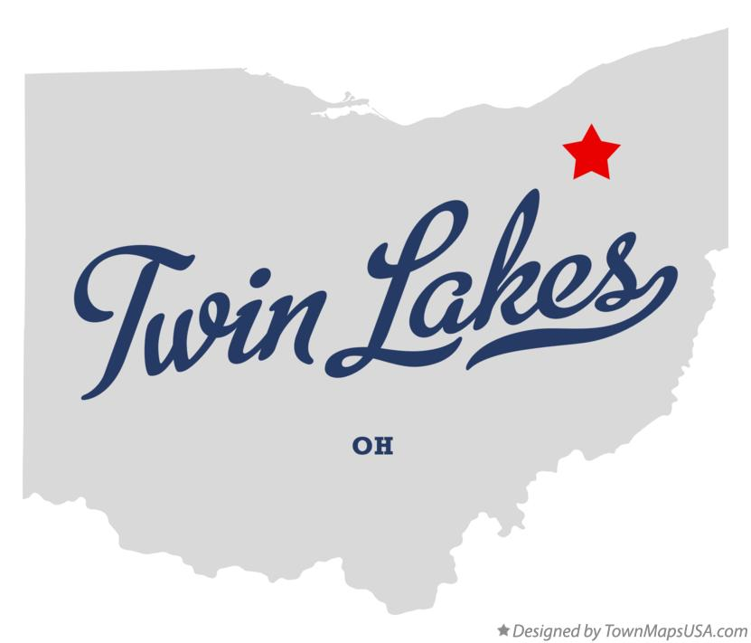 Map of Twin Lakes Ohio OH