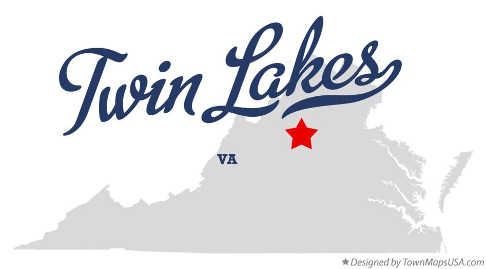 Map of Twin Lakes Virginia VA