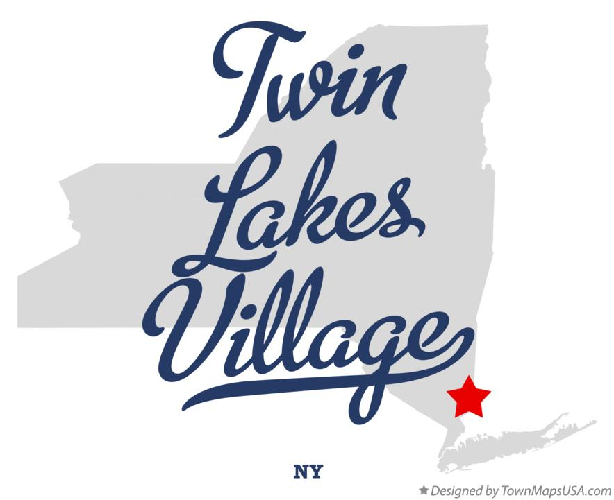 Map of Twin Lakes Village New York NY