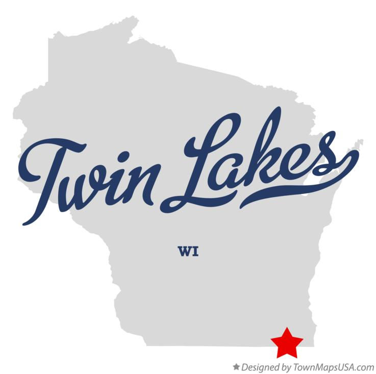 Map of Twin Lakes Wisconsin WI