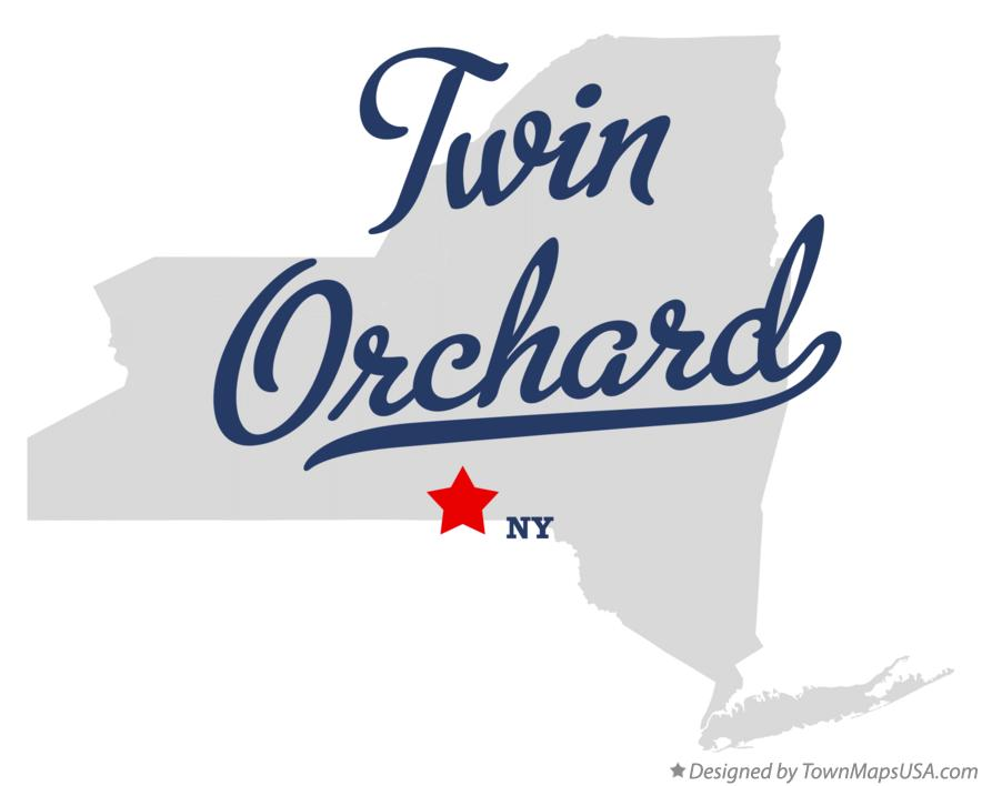 Map of Twin Orchard New York NY