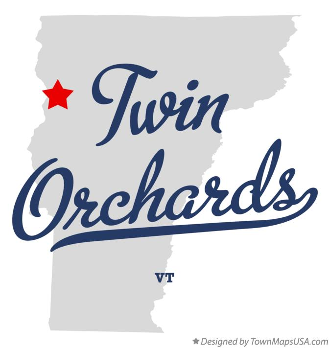 Map of Twin Orchards Vermont VT