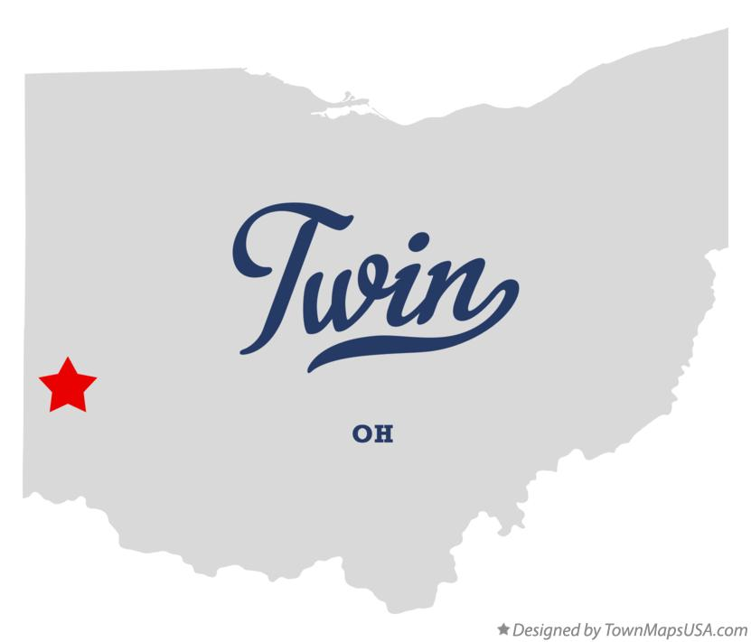 Map of Twin Ohio OH