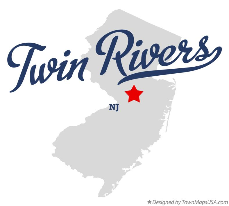 Map of Twin Rivers New Jersey NJ