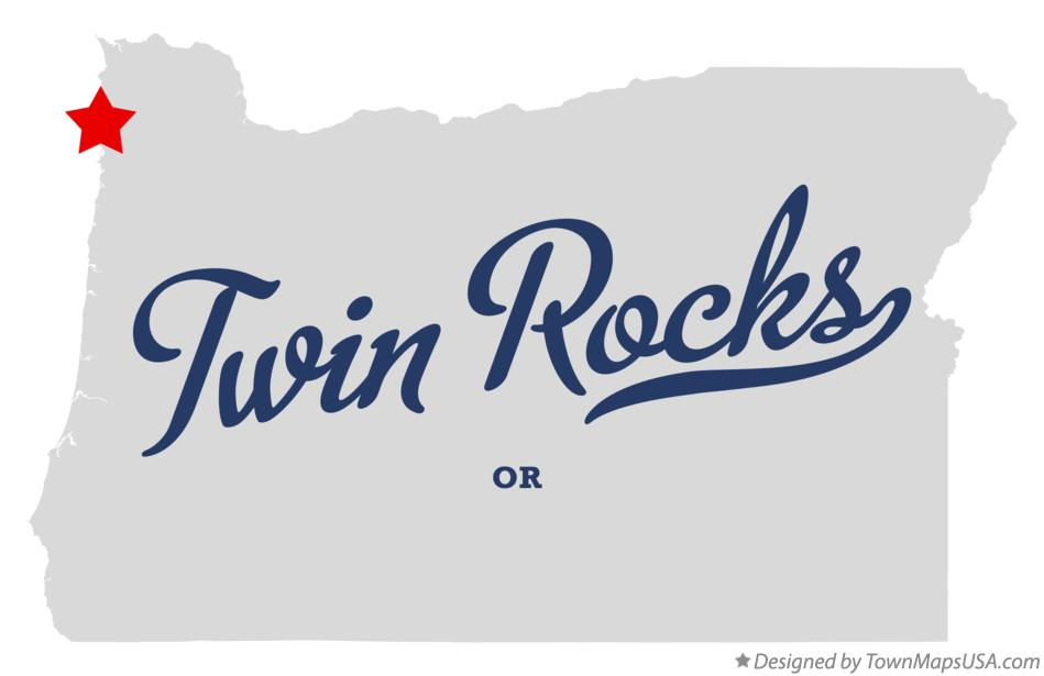 Map of Twin Rocks Oregon OR