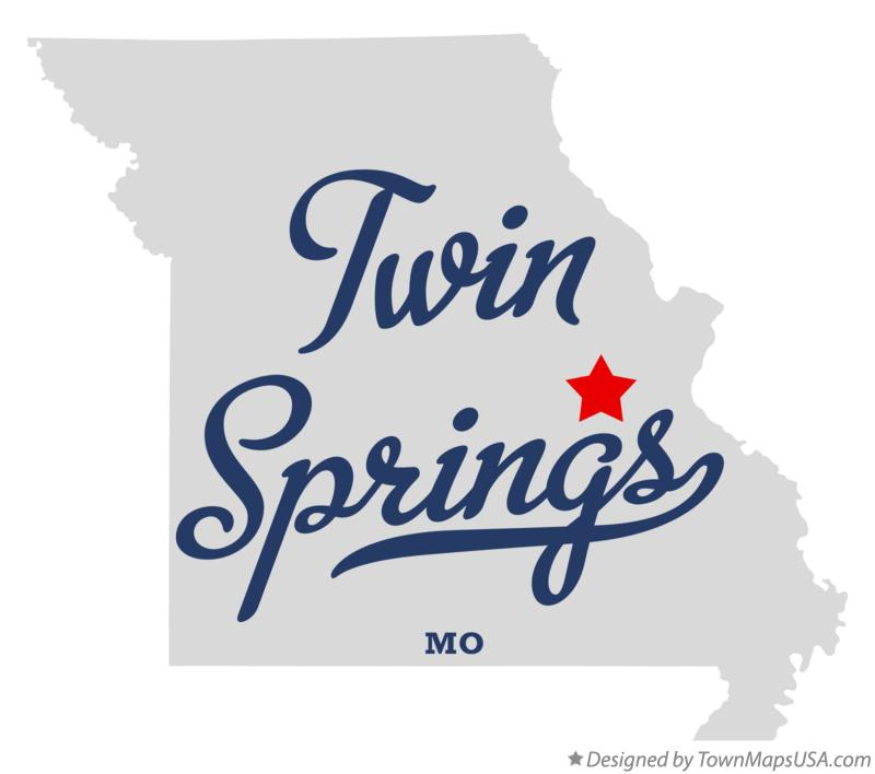 Map of Twin Springs Missouri MO