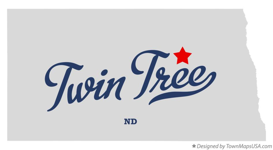 Map of Twin Tree North Dakota ND