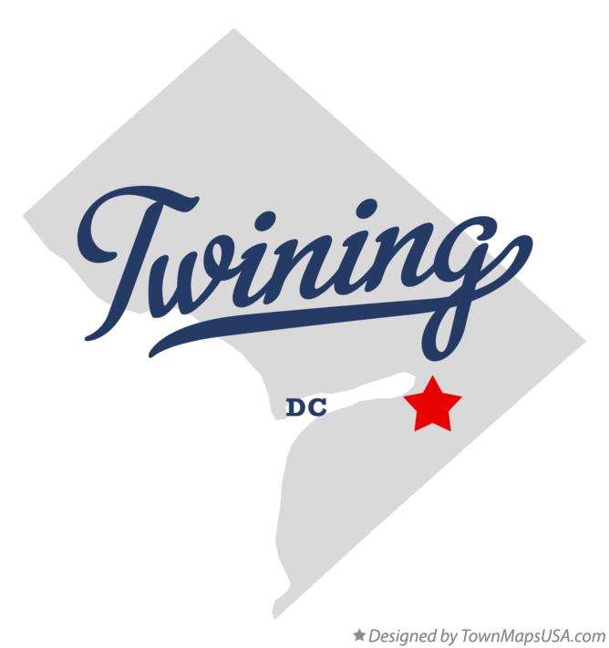 Map of Twining District Of Columbia DC