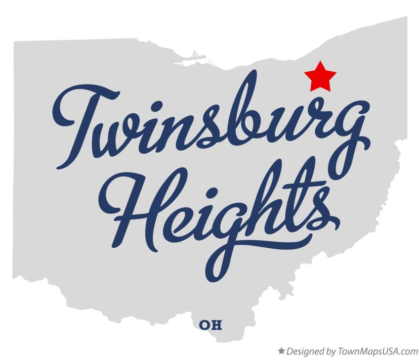 Map of Twinsburg Heights Ohio OH