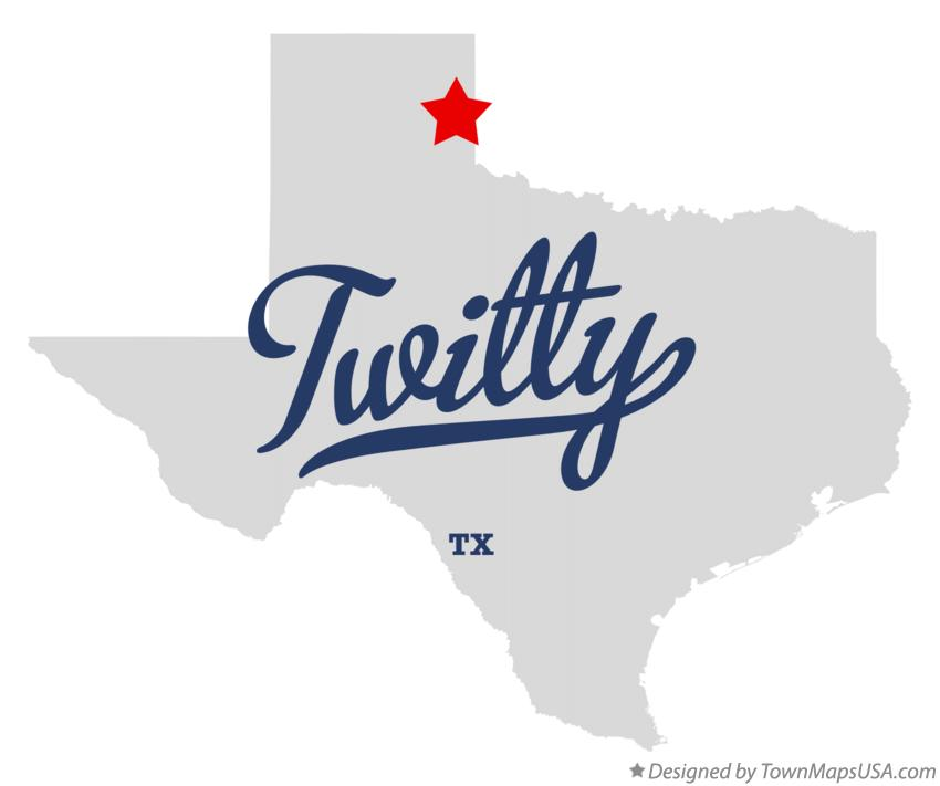 Map of Twitty Texas TX
