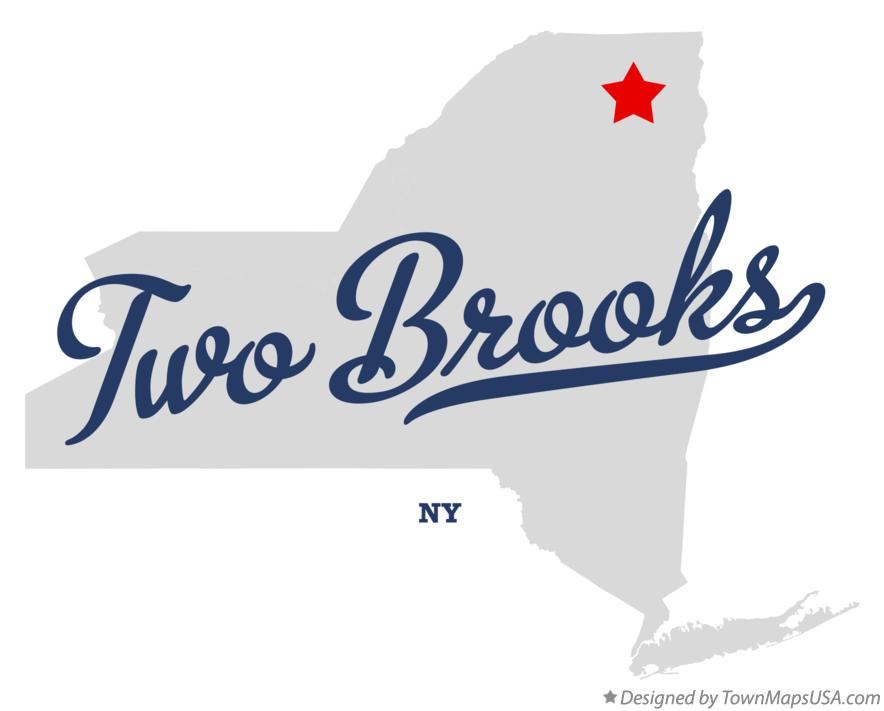 Map of Two Brooks New York NY