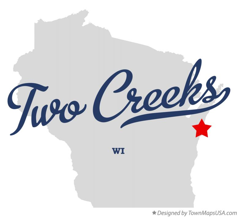 Map of Two Creeks Wisconsin WI