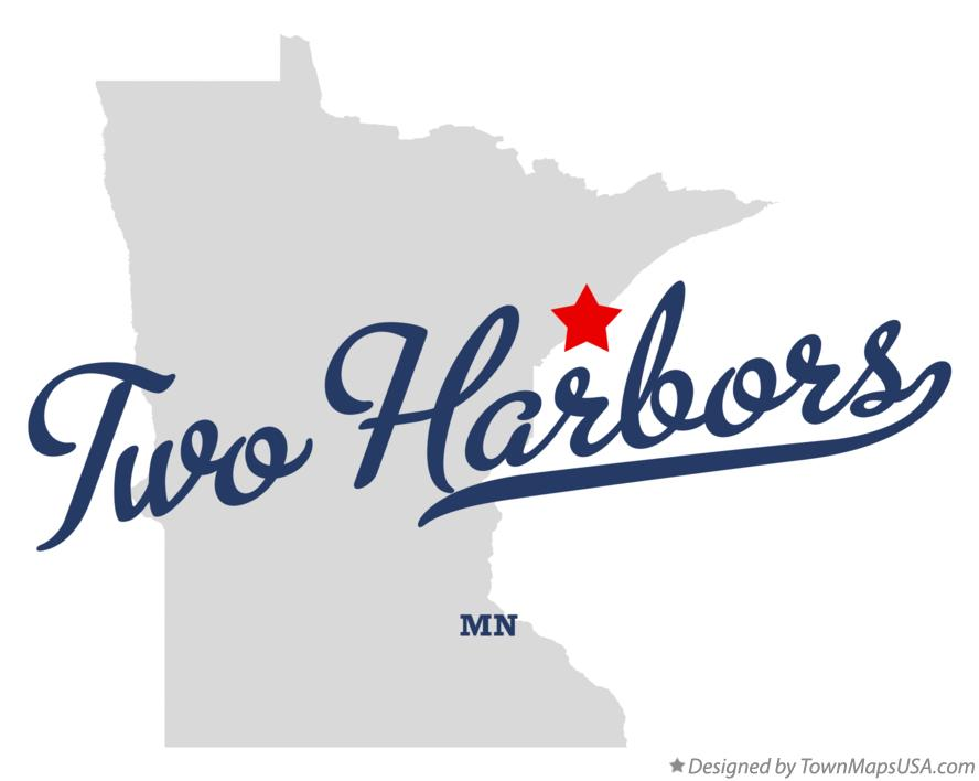 Map of Two Harbors Minnesota MN