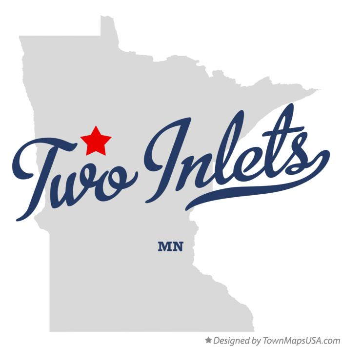 Map of Two Inlets Minnesota MN