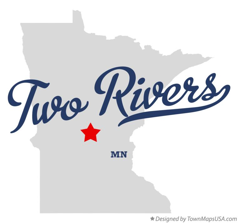 Map of Two Rivers Minnesota MN