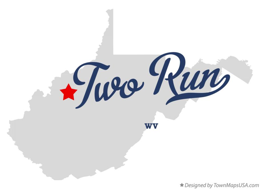 Map of Two Run West Virginia WV