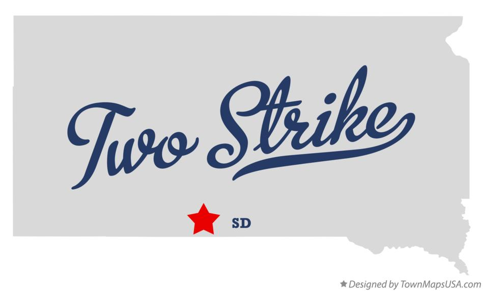 Map of Two Strike South Dakota SD