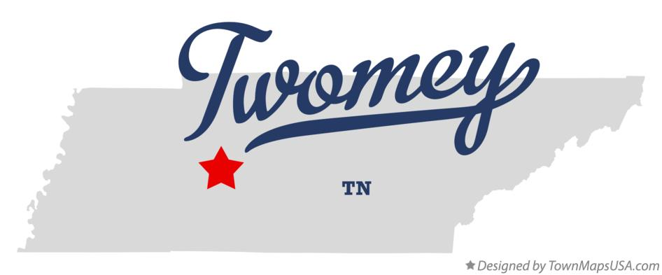 Map of Twomey Tennessee TN
