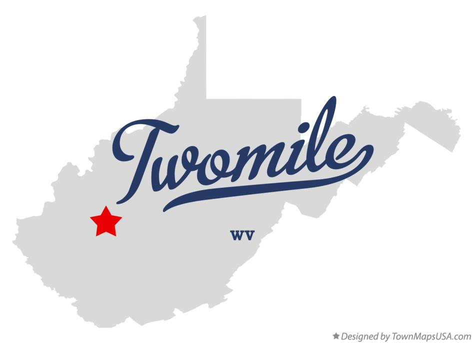 Map of Twomile West Virginia WV