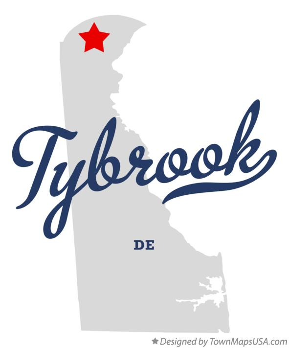 Map of Tybrook Delaware DE