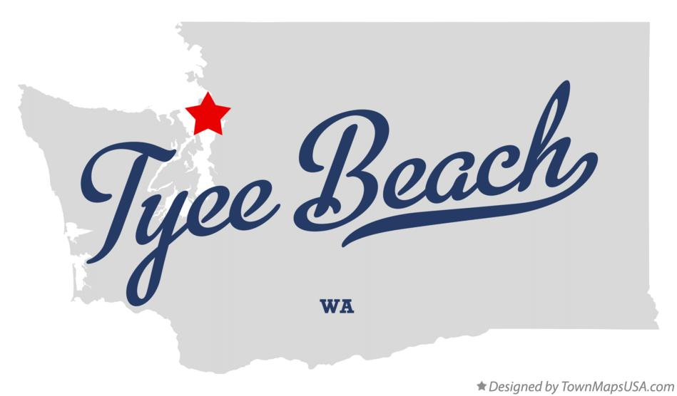 Map of Tyee Beach Washington WA