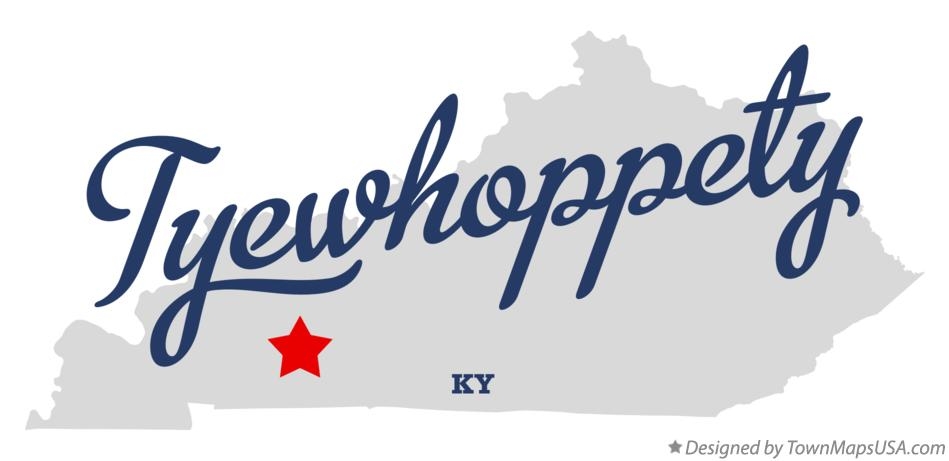 Map of Tyewhoppety Kentucky KY