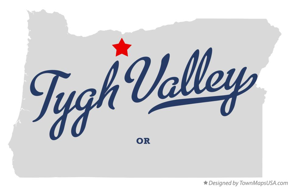 Map of Tygh Valley Oregon OR