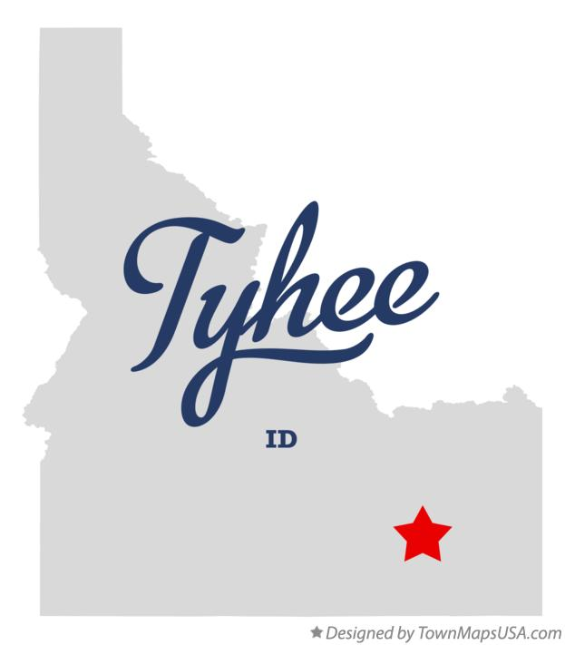 Map of Tyhee Idaho ID