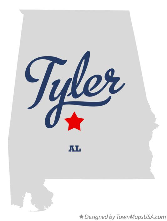 Map of Tyler Alabama AL