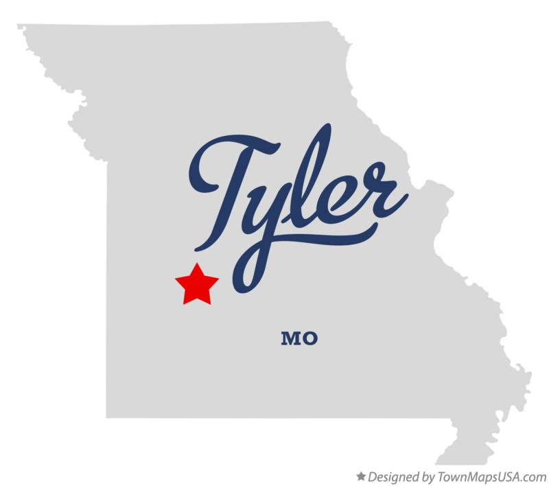 Map of Tyler Missouri MO