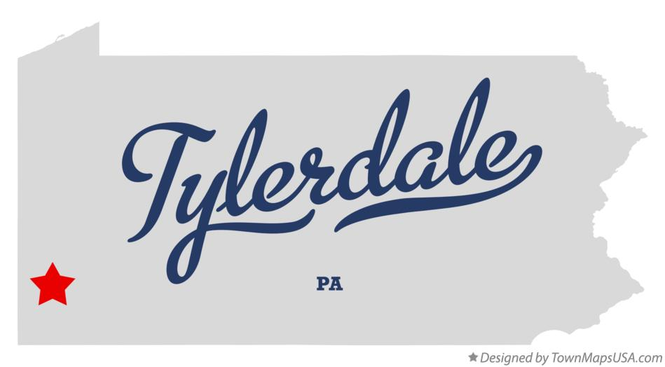 Map of Tylerdale Pennsylvania PA