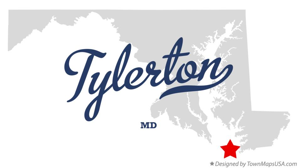 Map of Tylerton Maryland MD