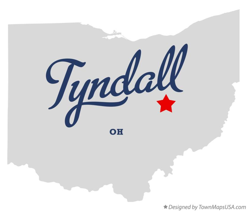 Map of Tyndall Ohio OH